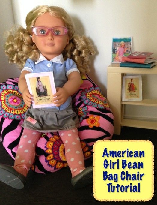American Girl Bean Bag Chair DIY Tutorial