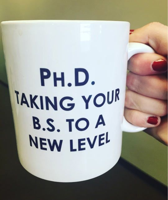 Taking grad school to a different level....