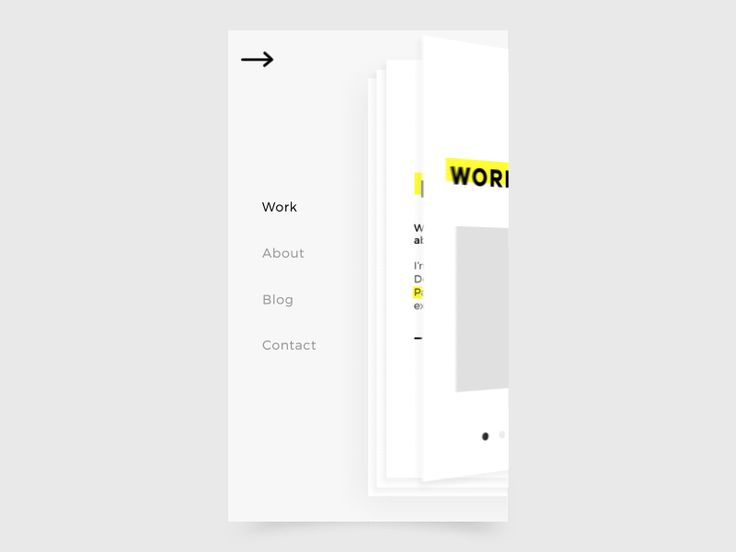 Hello everyone !  Here is an overview of my portfolio is being created .  This is a work in progress of the mobile version with the interaction of the menu.  I tried to reproduce the effect of a b...