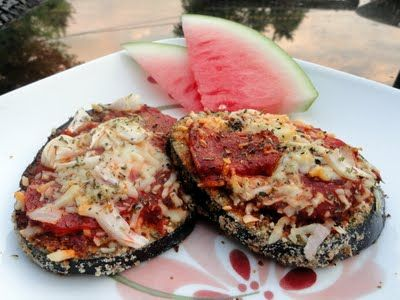 Simple Eggplant Pizza ♥   Healthy For Life ღ   Pinterest