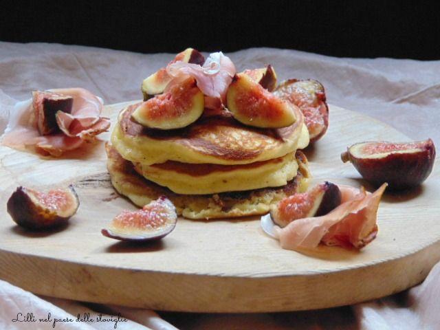 Pancake ai fichi e prosciutto
