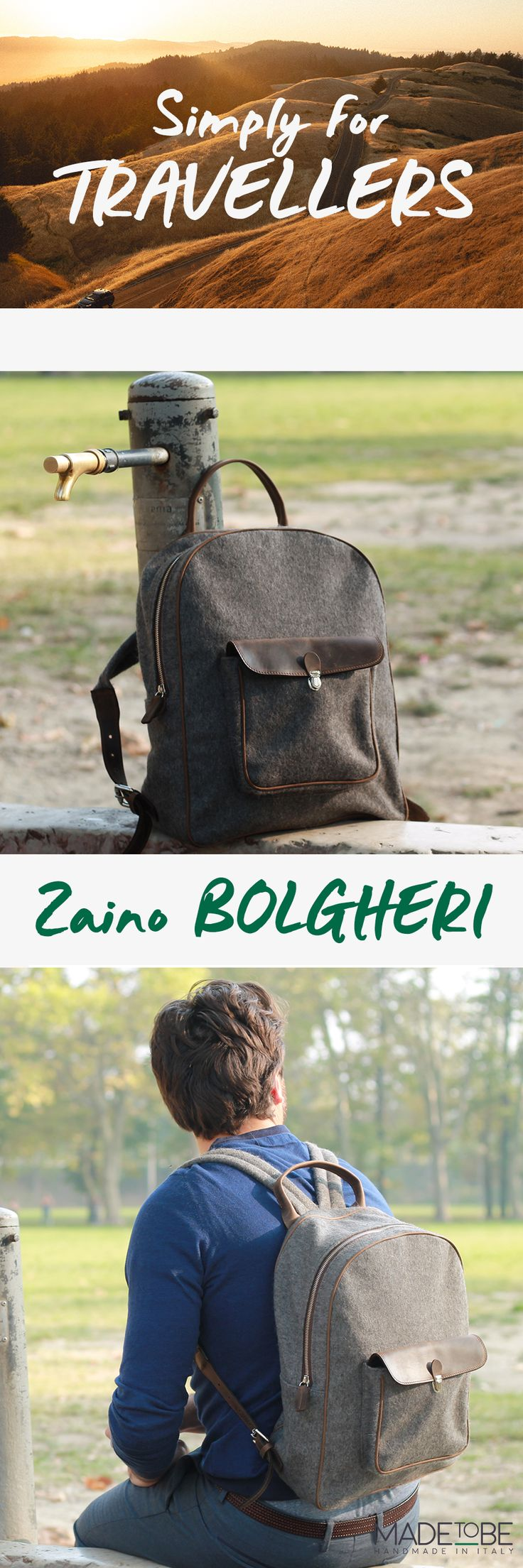 Bolgheri Backpack _ Simply for Travellers by Made To Be