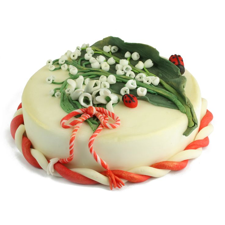 Invita primavara la petrecerea ta cu acest tort decorat cu delicatele lacramioare si ghiocei dulci. Pentru un astfel de tort, recomandam drept sortimente Pearl & Ruby sau Double Desire.