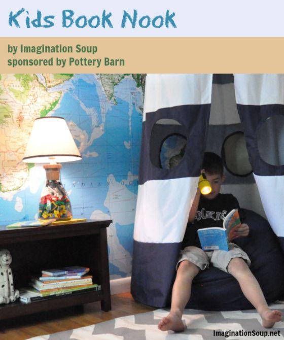 6 Steps to Make a Cozy Book Nook for Kids #booknookchallenge