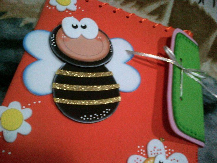 Cuadernos y Carpetas forradas con fomix on Pinterest | Tapas ...