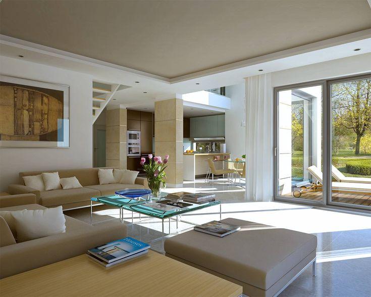 Z Klasą 1 - wizualizacja 3 - Projekt nowoczesnego domu piętrowego z antresolą i garażem dwustanowiskowym