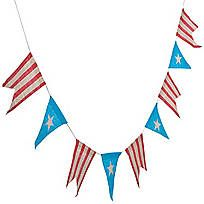 Dress up a space with sea-faring charm! This Nautical Pennant Garland is the perfect accent to your nautical party theme! With it's red, white &…