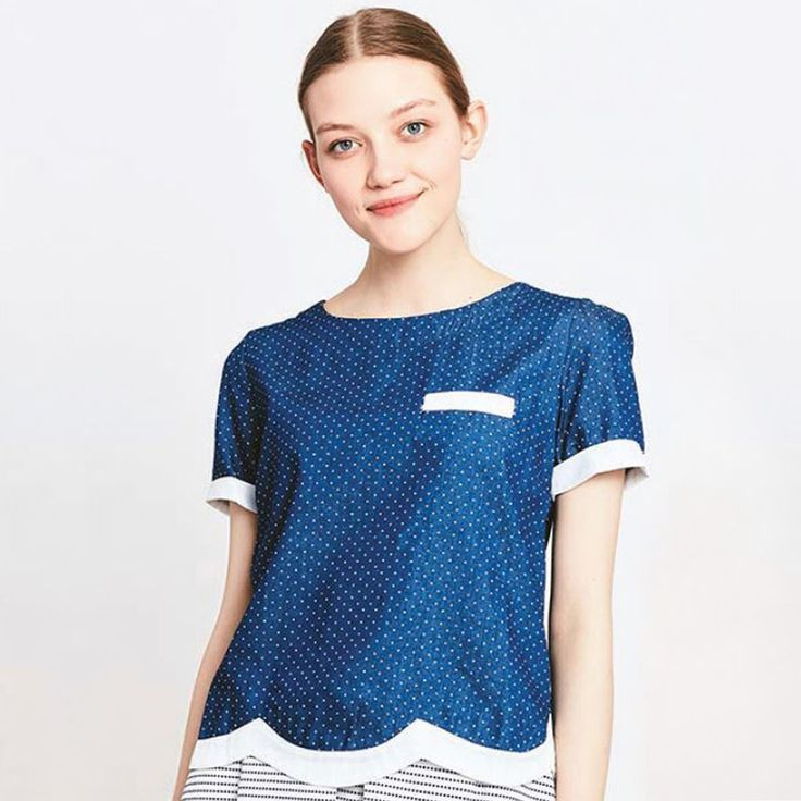 Блузка в горошек с короткими рукавами в горошек Migle+Me | купить в интернет-магазине La Redoute