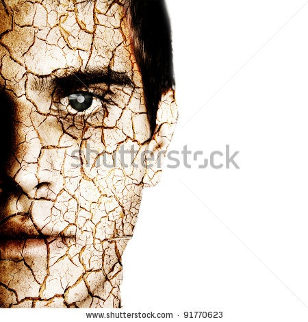 Minerva Studio - Cracked Man'S Head Foto Stock: 91770623 : Shutterstock