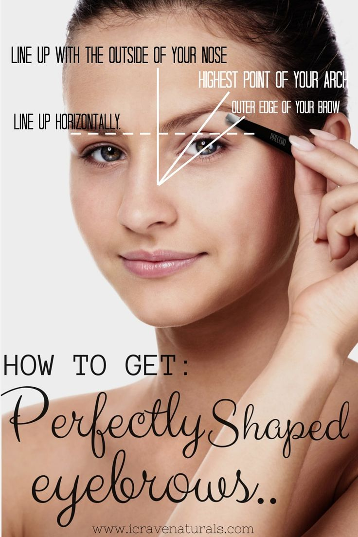 How to Get Perfectly Shaped Eyebrows! Use: Precisio Tweezers #howto #eyebrows