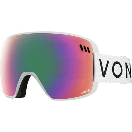 Ditching the status quo, the Von Zipper's Alt-XM Wildlife Goggles bring you a new, unique way to view the mountain. Extraordinarily lightweight and frameless by design, this pair has a WildLife Lens, which employs a contrast enhancement filter that dramatically improves color brightness and contours in all lighting conditions, offering maximum definition, acuity and clarity in a way other goggles haven't.