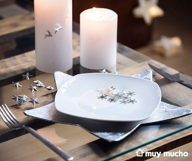 #vajilla #cubertería #velas y #decoración de #muymucho #muymuchopormuypoco