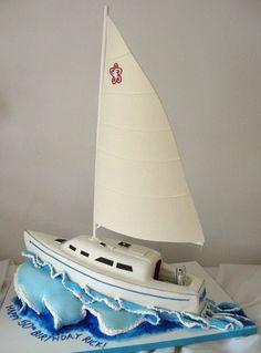 sailboat cake by courtneyscakes, via Flickr