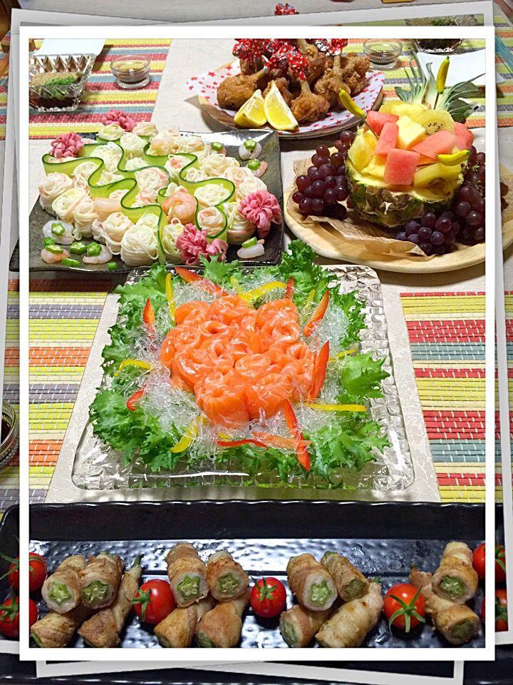 yu mi's dish photo うちの七夕パーティー | http://snapdish.co #SnapDish #晩ご飯 #七夕