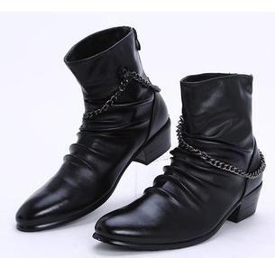 2012 nuevo envío gratis botas vaqueras botas hombre zapatos de hombre casual tendencia de la moda de alta