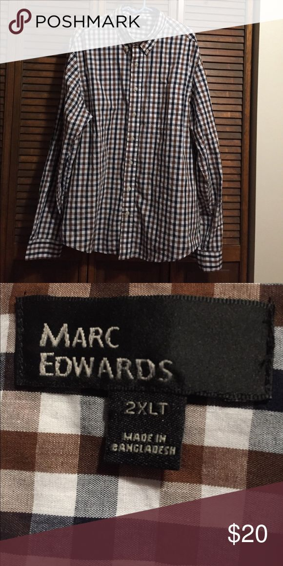Marc Edwards Dress shirt Excellent condition no flaws. Worn once. Feel free to ask questions or offer. Great fall colors! marc edwards Shirts Dress Shirts