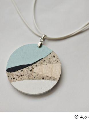 diy handmade necklace pendant pastel etno