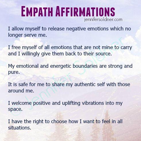 Empath Affirmations