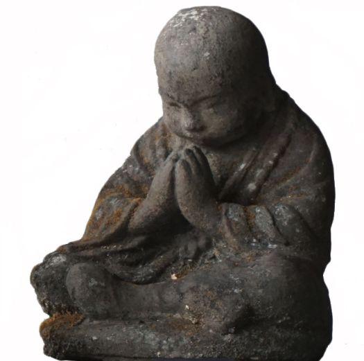 Small stone praying Buddha figure #ShimuGiftIdeas