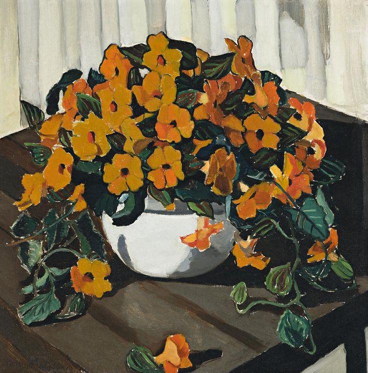 Margaret Preston-THUNBERGIA (BLACK-EYED SUSAN), 1929