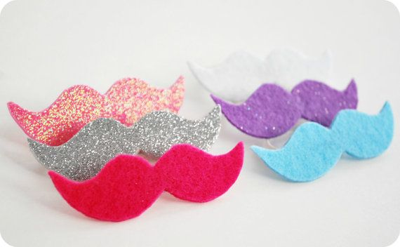 Mustache Shaped Beer Markers - Six Pack (for a Girl party) by Mysaucymustache, $6.00  (Helps the girls keep track of their beers at parties.) @kimberlygarcia instead of beer can use on bottled sodas!