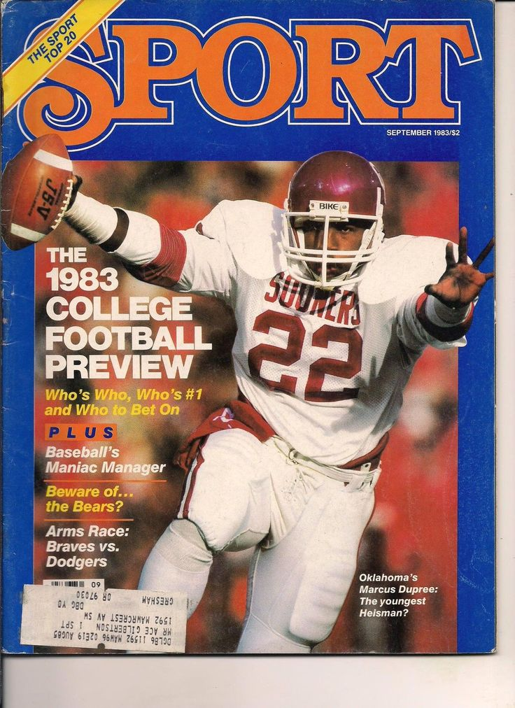 Marcus Dupree Oklahoma Sooners Heisman Sport 1983 College Preview NFL Bears Nice | eBay