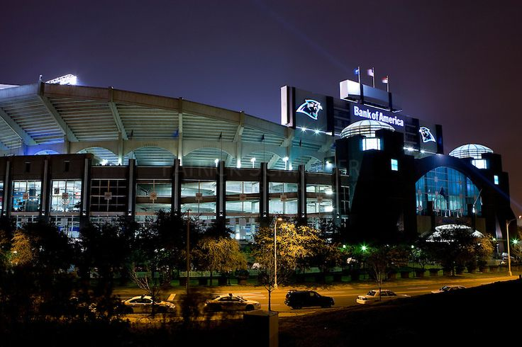 Bank of America Stadium in downtown Charlotte, NC
