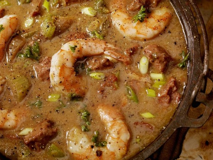 A Spectacular Seafood Gumbo with Okra and Stewed Tomatoes