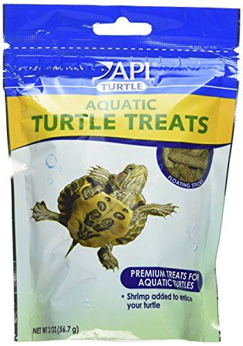 Premium treats for aquatic turtles that include shrimp to entice your turtles. Floating sticks that will make your turtle swim to the surface of the water to feed....