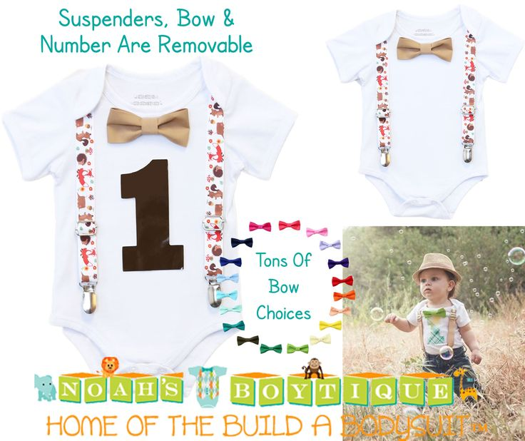 Woodland Creature Birthday Outfit - Fox Birthday Outfit - Forest Animals - First Birthday - 1st - Suspenders - Bow - Animals - Baby Shower