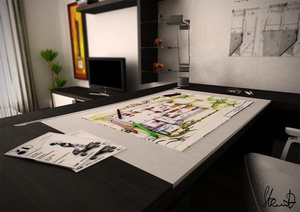 Architects flat: Interior Design, Technical Drawings, Flat Interior, Architects Flat, Tech Drawings