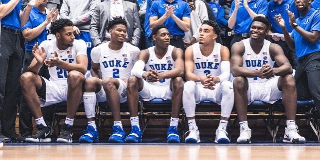 Marques Bolden, Cam Reddish, RJ Barrett, Tre Jones And Zion Williamson |  Duke basketball, Duke, Duke blue devils