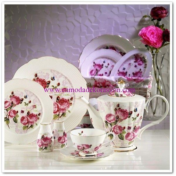 Kütahya Porselen Bone China 44 Parça Kahvaltı Takımı