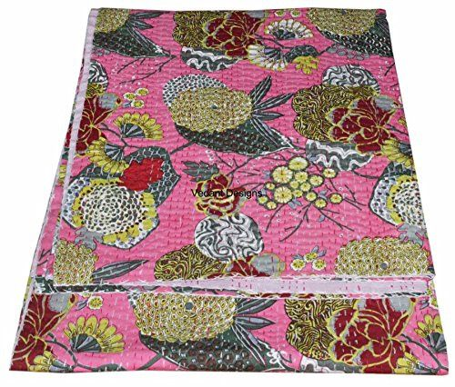 Patchwork & Quilts – Traditional Patchwork Quilt Double Boho Kantha – a unique product by IndianCraftPalace on DaWanda