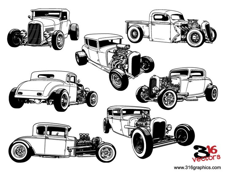 hot rod drawings