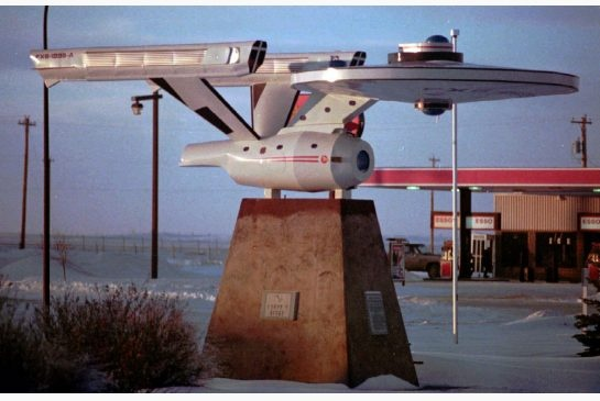 Vulcan Alberta claims the worlds largest model of the Starship Enterprise. Live long and prosper.