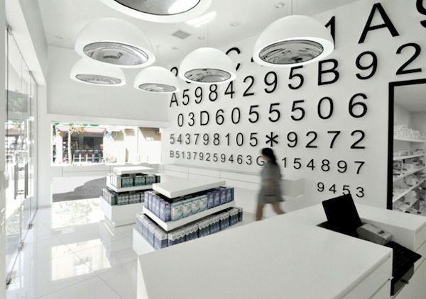 Sleek & Minimal eye doctor retail store design