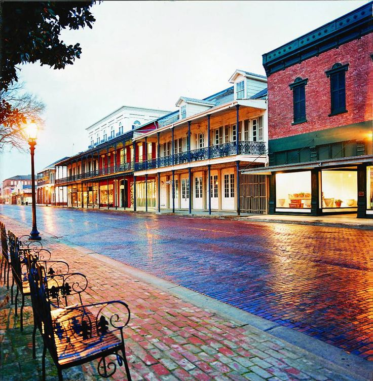 Front Street in Natchitoches markeric Louisiana, the
