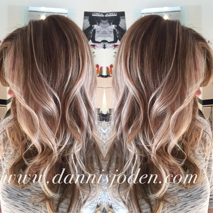 Beach blonde balayage highlights melting into ombrè. Hair by Danni in Denver, CO