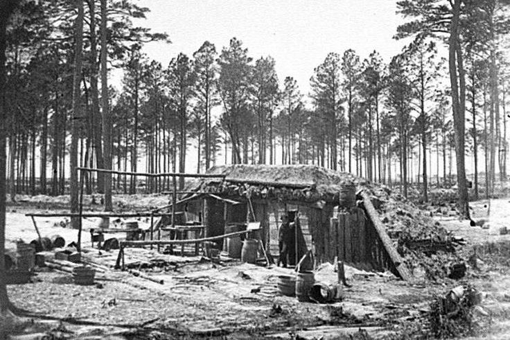 A Union fortification at the Siege of Petersburg.