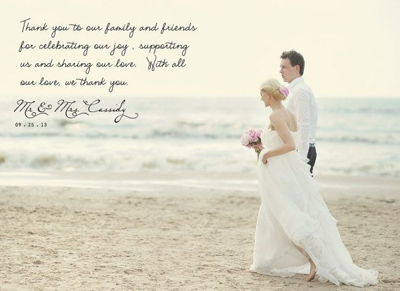 17 Best ideas about Wedding Thank You Wording – Destination Wedding Thank You Card Wording