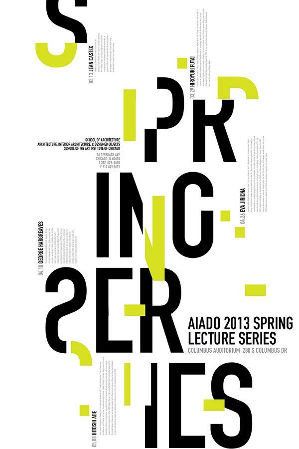Lecture Series Typographic Poster