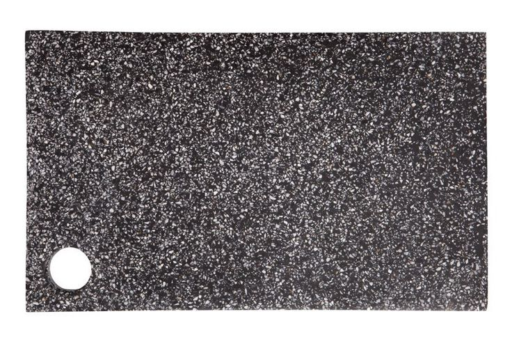 Our Terrazzo Board in Black makes the perfect accessory to your table or on a bench with a candle or two balanced on top.    The board is a rectangular shape and features a round hole in one corner which makes it super easy to pick up and serve from. The hole also makes a nice statement if you have the board leaning up against your kitchen splash back.    Shop now - $79.00  www.peppapenny.com