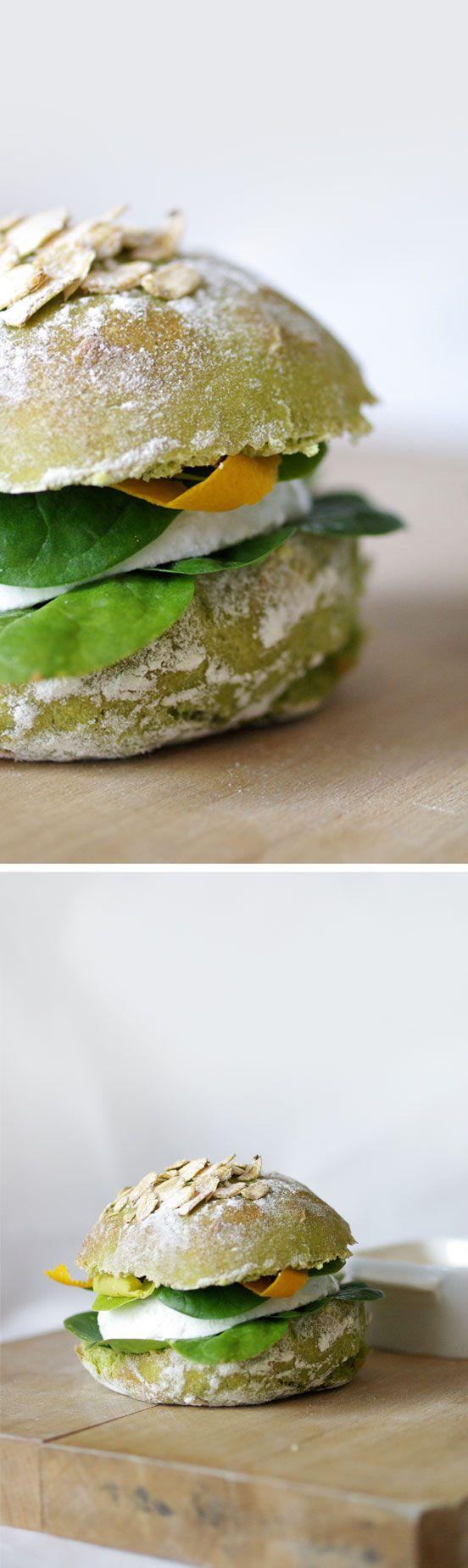 Burger sweet salade et fromage frais|Petits Pois