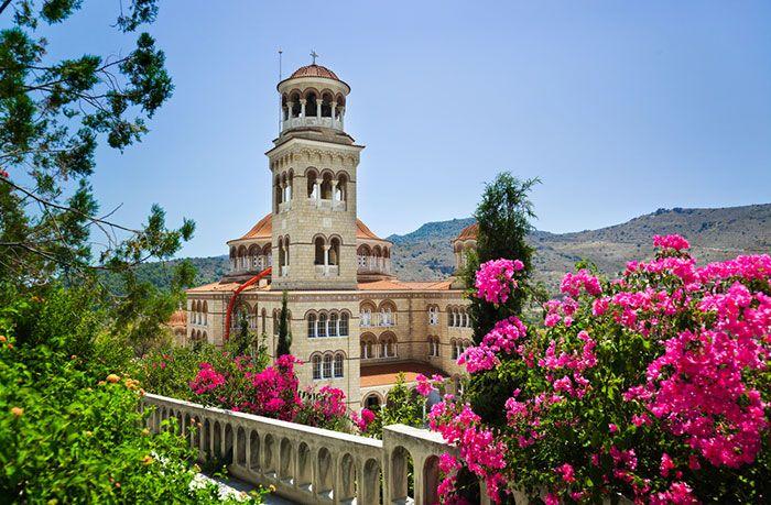 Church Agios Nectarios in Aegina, Greece.