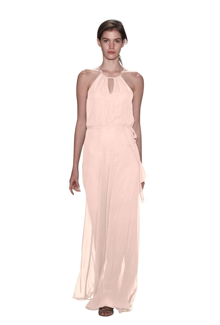 73 best bridesmaids in blush images on pinterest vows a floor length halter chiffon bridesmaid dress with keyhole in two colors affordable designer ombrellifo Choice Image