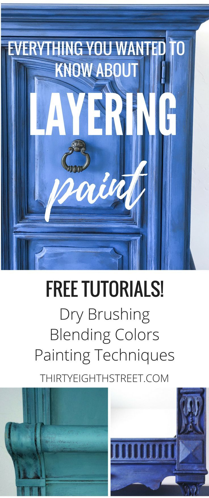The Ultimate Guide For Layering Paint Colors on Furniture! FREE and easy furnitu...