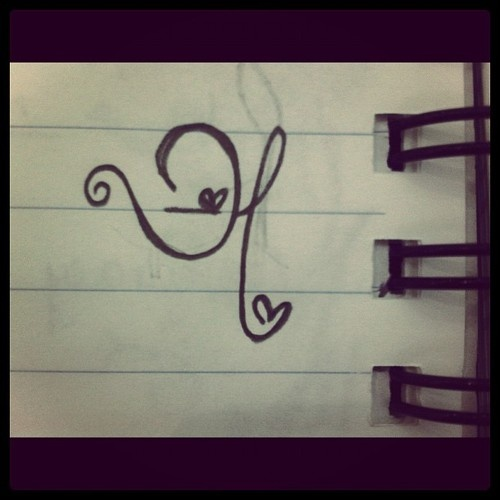 Tattoo Designs Of Letter A: Letter H- I Want This Tattooed Somewhere!!!