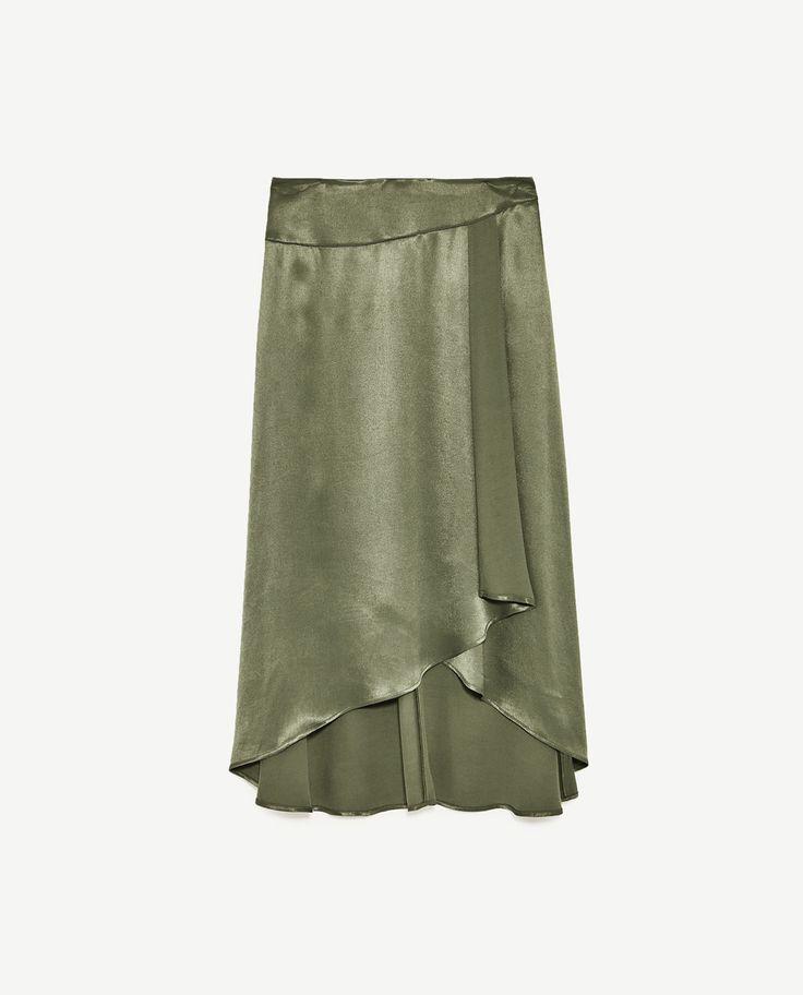 Image 8 of LONG ASYMMETRIC SKIRT from Zara