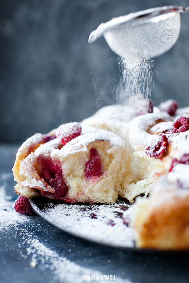 Raspberry & White Chocolate Scones recipe (recipe in Polish, Google will translate instantly for you).